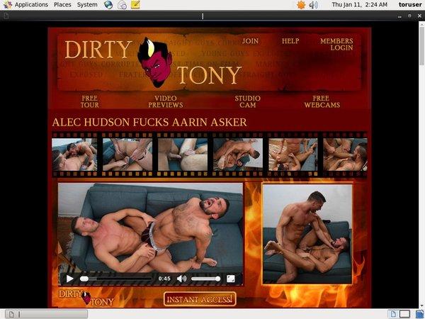 1 Dirty Tony Pay Using