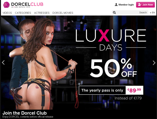Dorcel Club Discount Account