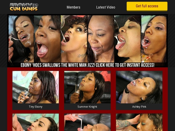 Ebony Cum Dumps Cheap Deal