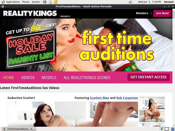 Firsttimeauditions Site