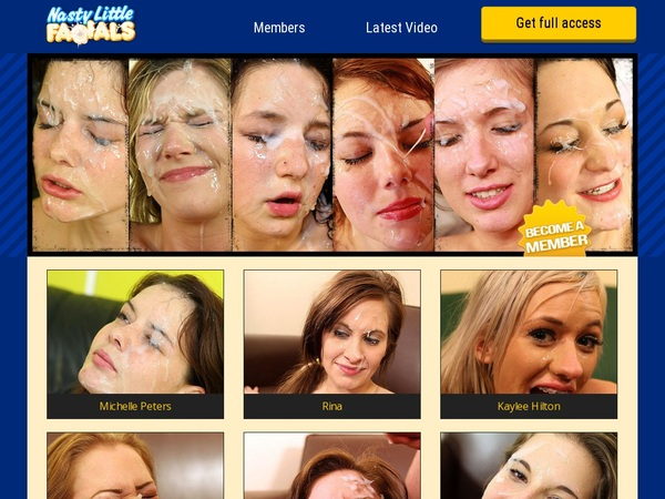 Free Accounts For Nasty Little Facials