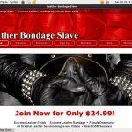 Free Leatherbondageslave Trial Membership