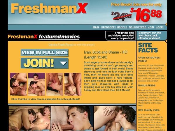 Freshman X Discount Setup