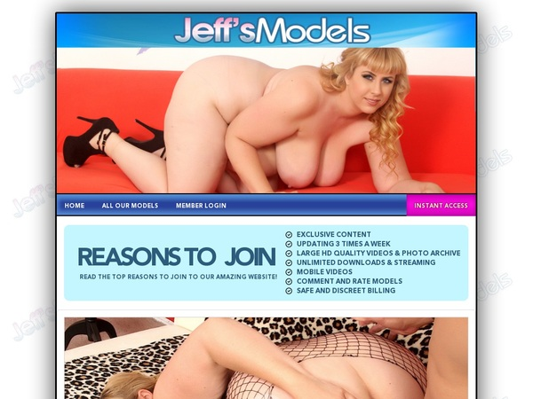 Jeff's Models Sign Up Discount