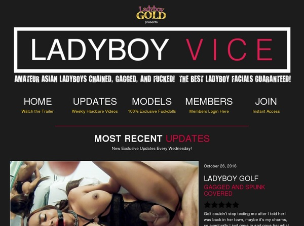 Ladyboyvice.com 3 Day Trial