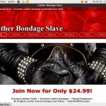 Leather Bondage Slave Free Scene