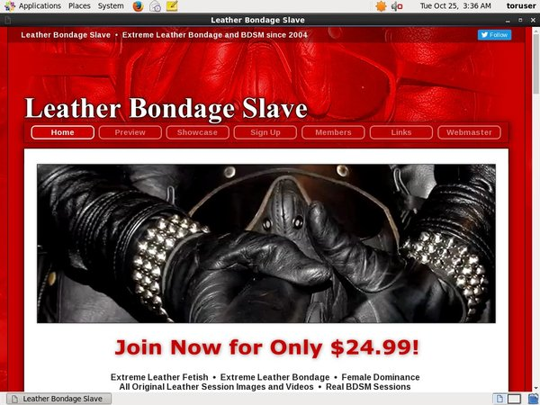 Leather Bondage Slave Join Page