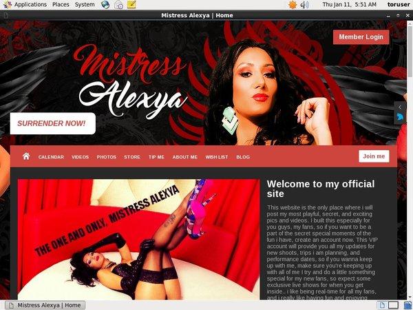 Mistress Alexya With Mastercard
