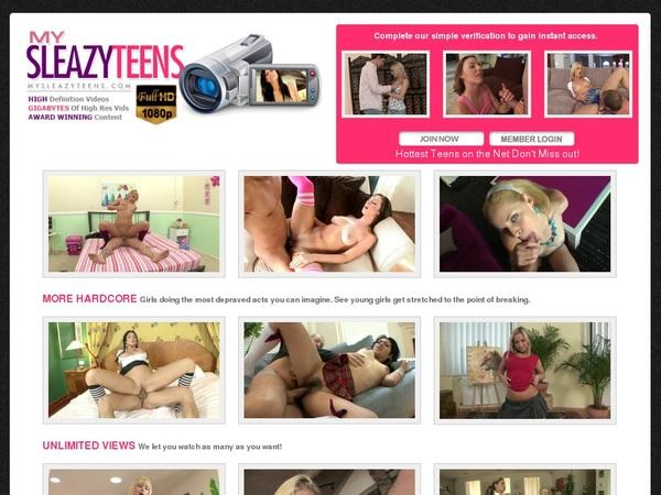 Mysleazyteens.com Membership Account