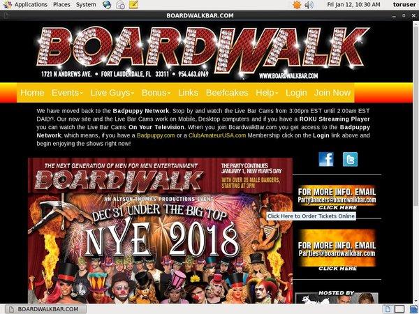 Passwords To Boardwalk Bar