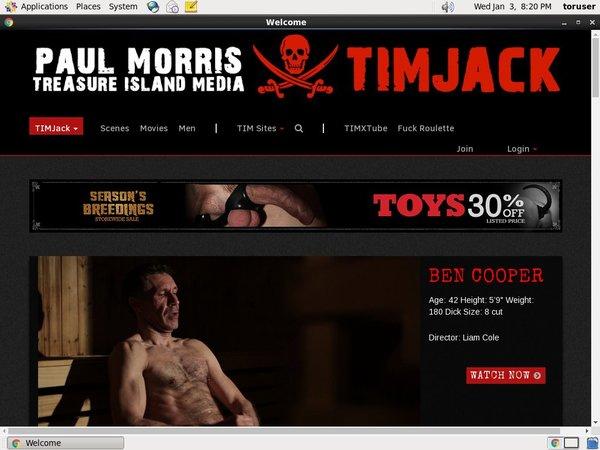 Timjack.com Password Login