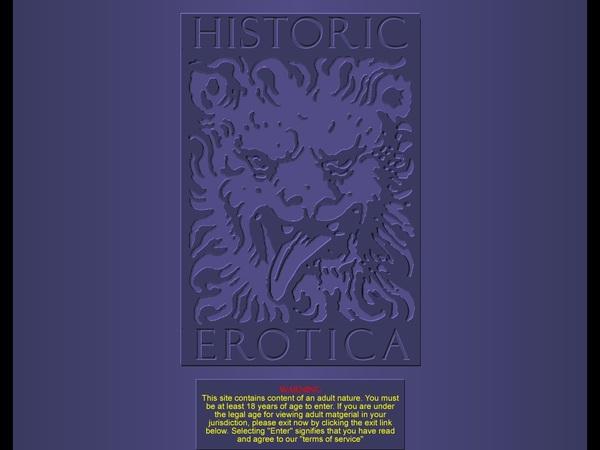 Trial Membership Historic Erotica