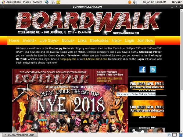 Boardwalk Bar Free Account Password