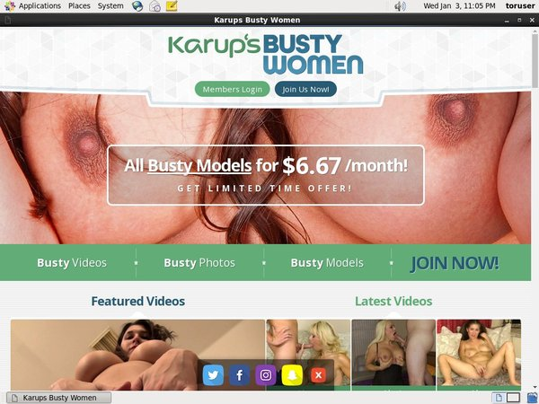 Karups Busty Free Memberships