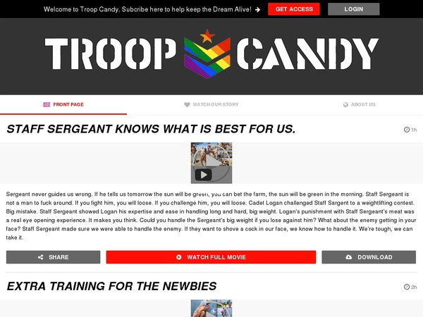 Troop Candy Full Site