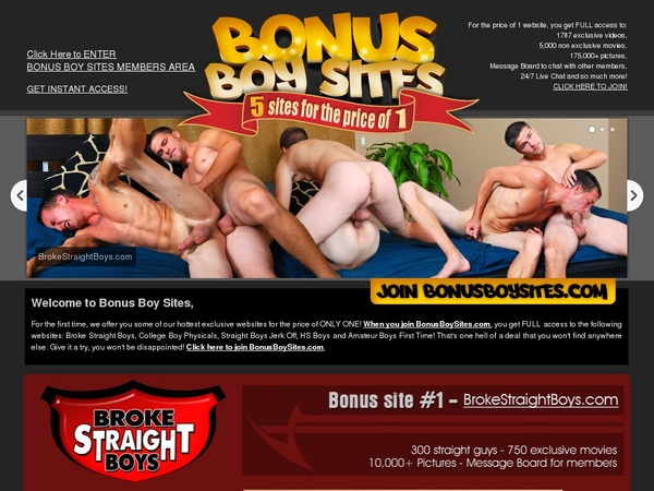 Bonus Boy Sites Canadian Dollars