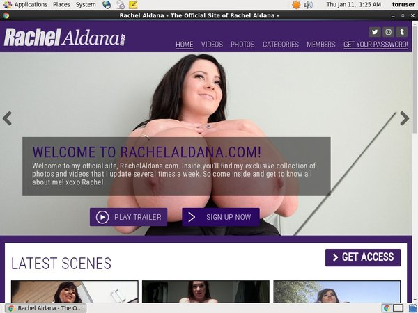 Rachelaldana.com Free Account Password