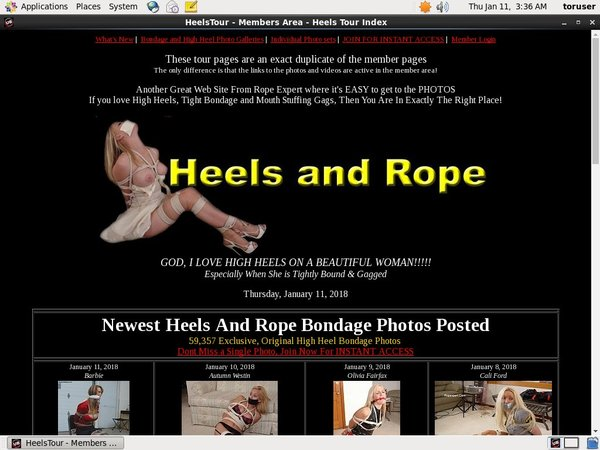 Joining Heels And Rope