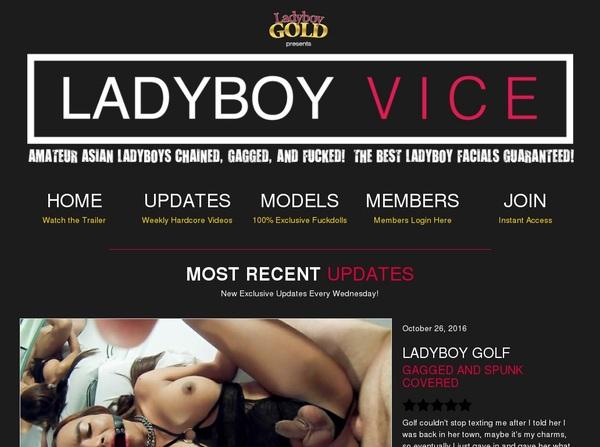 Ladyboyvice.com Login Information