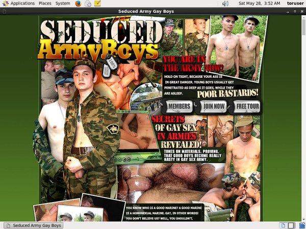 Free Seduced Army Boys Membership Trial
