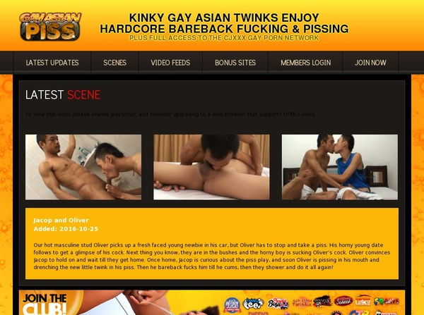 New Gay Asian Piss Account