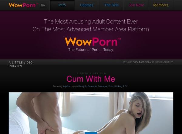 Wowporn.com Password Accounts