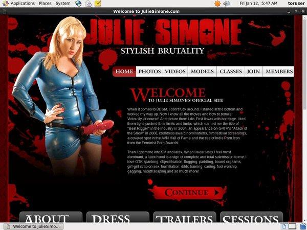 Free Trial Julie Simone Login