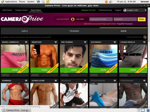Join Camera Prive Gay Gift Card