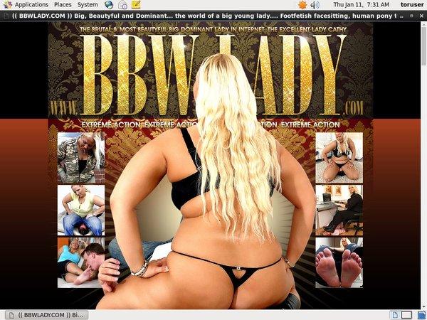 Offer BBW Lady