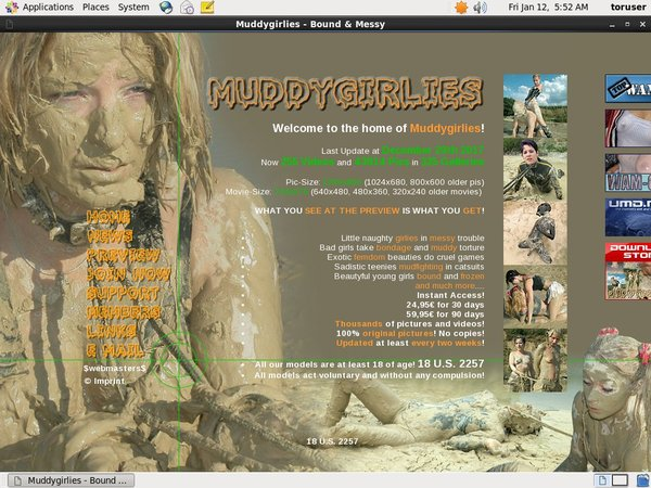 Sign Up To Muddy Girlies