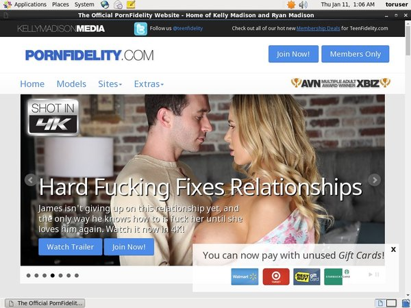 Pornfidelity Paypal Option