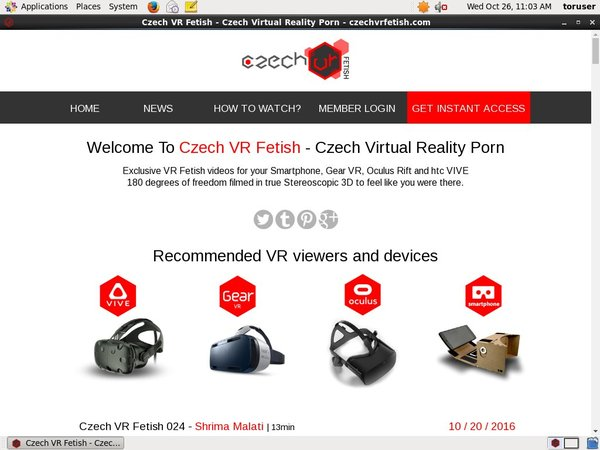 Accounts To Czech VR Fetish
