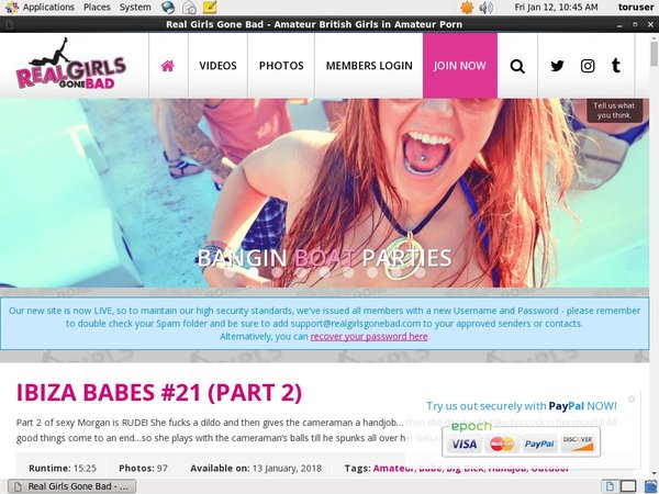 Real Girls Gone Bad Free Login And Password