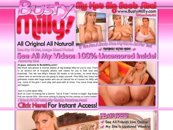 Bustymilly.com Parola D'ordine