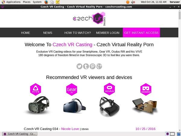 Free Czech VR Casting Passwords