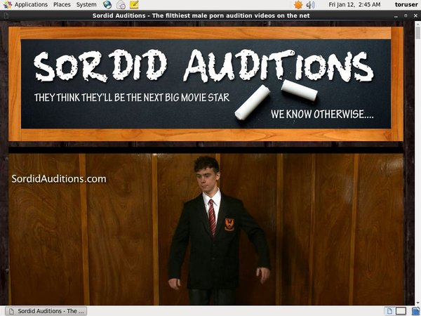 Free Sordid Auditions Discount Code