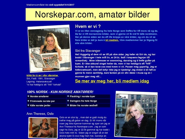 Norskepar.com Special Deal