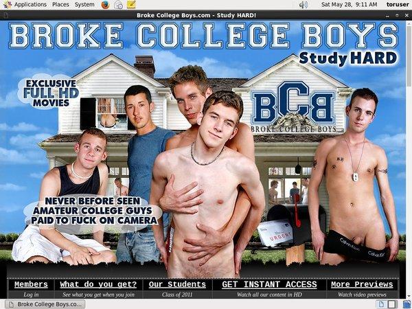 Brokecollegeboys.com Reduced Price