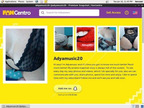 Adyamusic20 Free Id