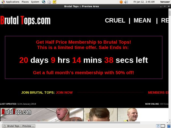 Brutal Tops Account For Free