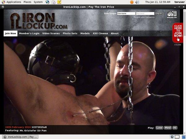 Iron Lock Up Porn Password