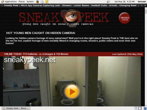 Sneaky Peek Accont