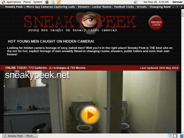 Sneaky Peek Login Details