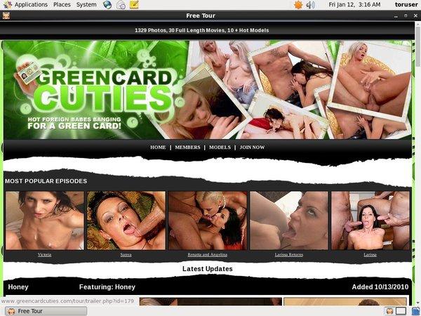 New Green Card Cuties Discount Promo